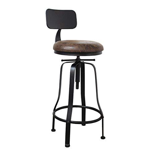 tabouret de bar DBL Polyvalent Hauteur comptoir Robuste Tabouret Construction Chaise Assemble Restaurants Chaises Minimaliste Design Utilisations commerciales de Fer + rembourré