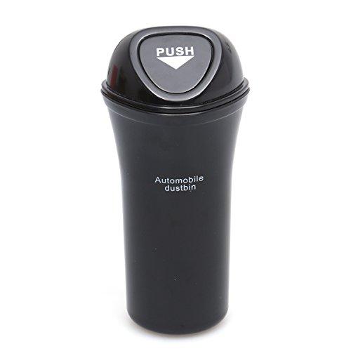 VORCOOL Tragbare Auto Mülleimer auslaufsicher Fahrzeug Mülleimer Mülleimer (Schwarz)