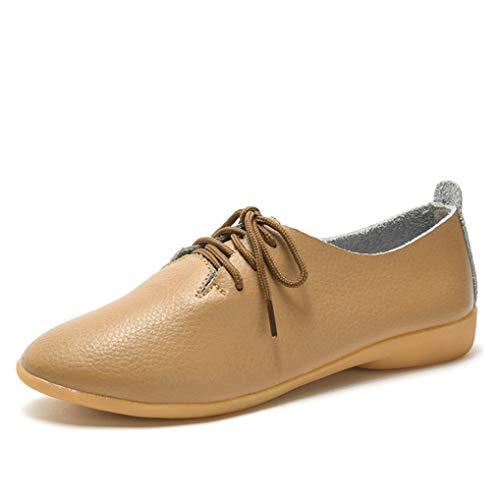 Mocasines De Mujer Mocasines Zapatos Oxford De Cuero Suave Casual Comfort Slip On Walking Driving Boat Flats para Damas