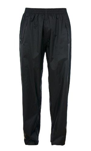 Trespass Qikpac Pant, Black, L, Kompakt Zusammenrollbare Wasserdichte Regenhose mit 3 Taschenöffnungen für Damen und Herren / Unisex, Large, Schwarz