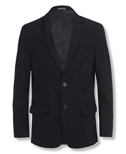 Calvin Klein Big Boys Bi-Stretch Blazer, Navy Blue, 12