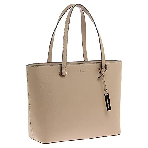 ジュエルナローズ | Jewelna Rose | ジゼラ トートバッグ | A4 ジャストサイズ | レディース | 通勤バッグ | 16065 (ベージュ)