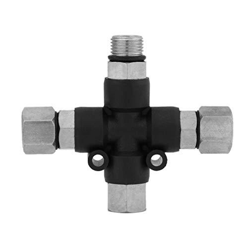 Ladieshow 1/8 '' 3-Way Airbrush Air Manifold Manifold Adapter Splitter Tattoo Spray Spray Conector