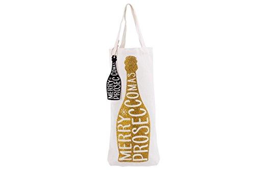 Rot Glitter Merry proseccomas Prosecco Wein Flasche Tasche Geschenk Tüte gold