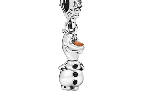 Olaf Charm Pendant Charms Compatible with Disney and Frozen Compatible with European Bracelet 925 Silver Ideal Gift for Women Girls