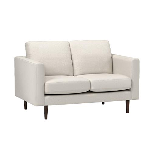 """Amazon Brand – Rivet Revolve Modern Upholstered Loveseat Sofa, 56""""W, Linen"""