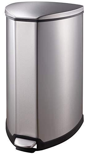 EKO Grace afvalemmer met kunststof accenten, 35 liter, roestvrij staal mat