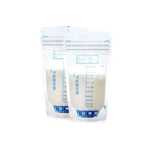 AmandaJ 30pcs Milch Gefrierbeutel Einweg Safe 250ml Baby Fütterung Muttermilch Lagerung
