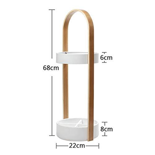 WYJW Paraplu standaard met lekbak wandelstok houder voor deur ingang paraplu houder Continental paraplu houder emmer (kleur: wit)