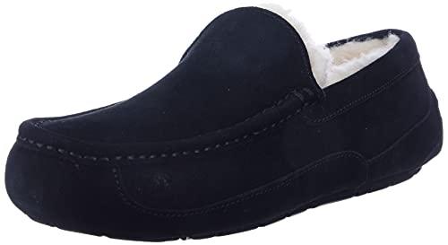 UGG Men's Ascot Slipper, Black, 11