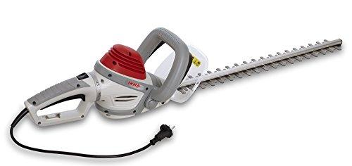 IKRA 43225660 Elektro Heckenschere IHS600 Schnittlänge 55cm Schnittstärke 20mm 180° Drehgriff, 600 W, 230 V, Rot/Weiß/Grau