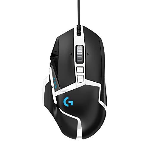 Logitech G502 HERO Special Edition Mouse Gaming Prestazioni Elevate, Sensore HERO 25K, 25.600 DPI, RGB, Pesi Regolabili, 11 Pulsanti Programmabili, PC/Mac/Laptop, Bianco/Nero