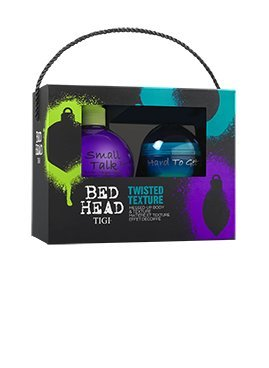 Tigi Bed Head Twisted Texture XMas Set-Small Talk Thickifier 200ml & Hard To Get Texturizing Paste 42g