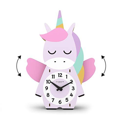 Cander Berlin MNU 9130 - Reloj de pared infantil con péndulo (madera), diseño de unicornio,...