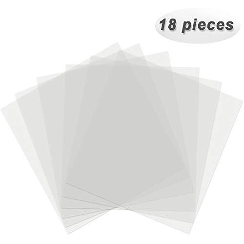Wang-Data 18 Pack 7mil Blank Stencil Sheets Mylar Sheet Blank Stencils Templates for Silhouette Machine 12 x 12inch