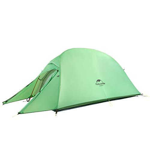 Naturehike Cloud-up Ultraligero 1 Persona Tienda de Campaña Impermeable Doble Capa Camping Tienda de campaña (210T Verde Actualizar)