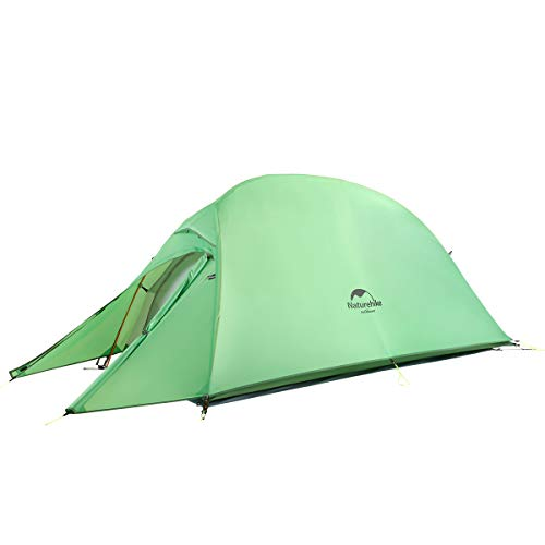 Naturehike Cloud-up Ultralight 1 person single tent 3 season camping tent (210T Green Upgrade)