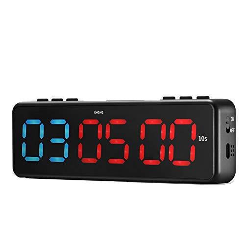 TTLIFE Gym Timer magnético, LED, Temporizador de intervalo, Temporizador de Fitness portátil con Control de aplicación Bluetooth, Temporizador de Gimnasio de Pared con 11 Modos de temporización