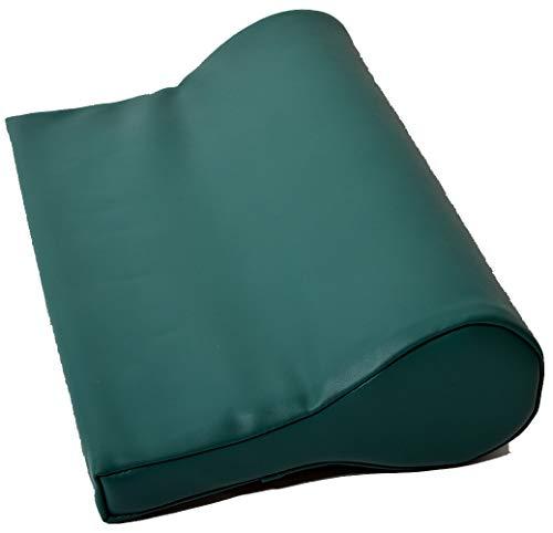 Nackenkissen ölabweisend und wasserabweisend für die Massage mit Feinzellschaumstoff und PU-Bezug als Nackenstützkissen für die Massageliege in Grün