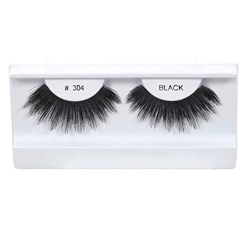 10 Pairs 100% Human Hair False Eyelashes Natural Black # 304