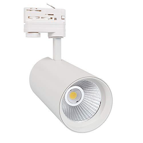 Faretto LED New Angelo 30W LIFUD Bianco per Binario Trifase Sistemi di illuminazione a cavo e su binario (K3000)