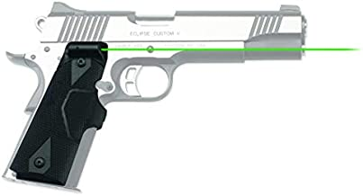Crimson Trace LG-401G Lasergrips with Green Laser, Heavy Duty Construction and Instinctive Activation for 1911 Full Size Pistols, Defensive Shooting and Competition