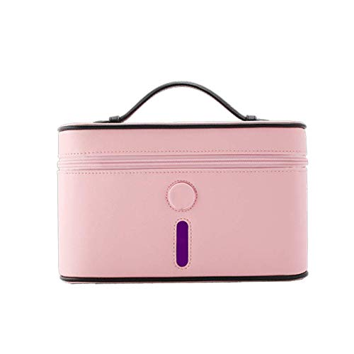 Heizung Portable UV Sanitizer Box,Multi-Function Disinfection Box for Cellphone,Cosmetic Cleaning Tool,Underwear,Cup,Toothbrush-Pink