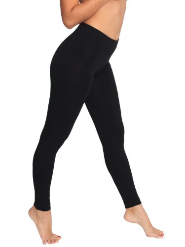 American Apparel Leggings aus Baumwoll-Spandex - Schwarz - Klein