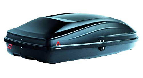 PROPOSTEONLINE Box Portatutto Portapacchi Portabagagli Baule da Tetto Auto Dimensioni 133 x 73 x 36 CM in Colore Nero Metallizzato Opaco