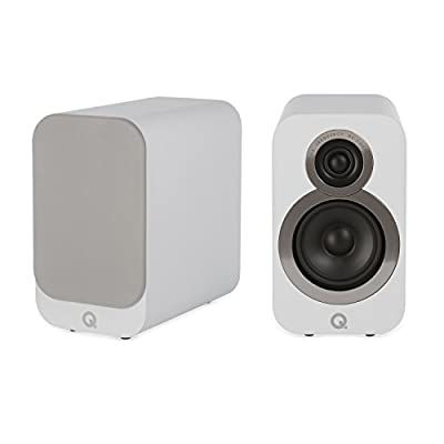 Q Acoustics 3010i Compact Bookshelf Speakers (Pair) (Arctic White) by Q Acoustics
