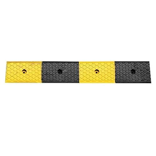 Buffer-Feng hellingen voor rolstoelen, ziekenhuis, school, oprijplaten, waterdicht, robuust, 5 cm, geel en zwart