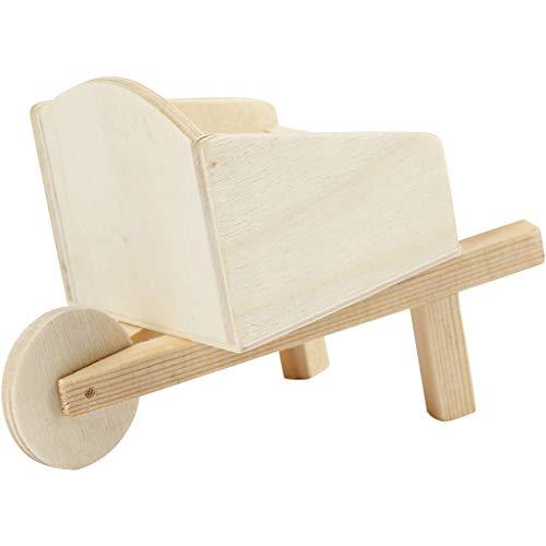 greedeko miniatuur kruiwagen om te knutselen 11x6cm hout zelfvormgeven DIY decoratie mini tuingereedschap