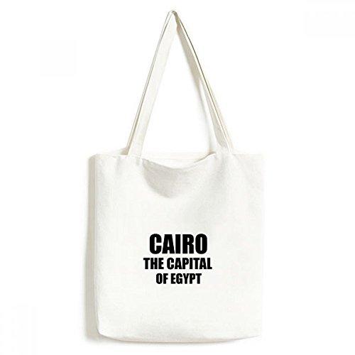 Cairo, a capital do Egito, sacola de lona, bolsa de compras, bolsa casual