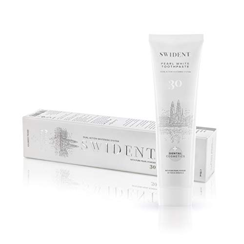 SWIDENT Pearl White Toothpaste, 75ml, Healthy whitening and brightening Formula with Pure Pearl Powder moisturizing and strengthening