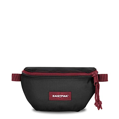 Eastpak Springer Gürteltasche, 23 cm, 2 L, Schwarz (Blakout Strip Red)
