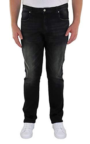 Marina del Rey Herren Jeans 5-Pocket Stretch Jeanshose Tapered Fit >Größen 60, 62, 64, 66, 68, 70, XL, XXL, 3XL, 4XL, 5XL, 6XL Große Größen Übergrößen Big Size Plus Size Big&Tall (68, Black Used)