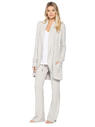 Barefoot Dreams Bamboo Chic Lite Circle Cardi - Silver - Medium