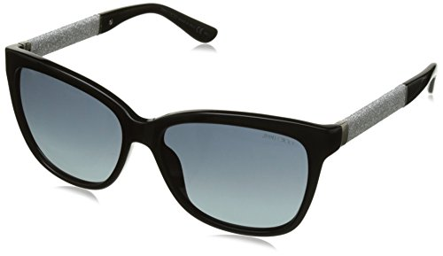 Jimmy Choo Damen CORA/S HD FA3 56 Sonnenbrille, Schwarz (Bk Glitterbk/Grey Sf)