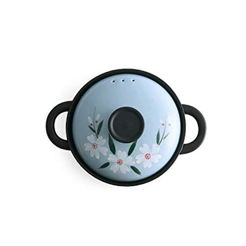 WYJW Handbemalter Keramikauflauf, hitzebeständiger Herd mit Griff, chinesisches Kochgeschirr, sicher und gesund