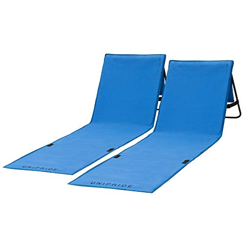 Beach Chairs For Adults Folding Lightweight (Set of 2) - Camping Chairs, Chaise Lounge Lawn Chairs For Outdoor Relaxing and Sun Tanning