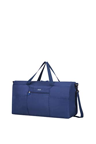 Samsonite Global Travel Accessories Foldable Travel Duffle S, 55 cm, Blue (Midnight Blue)