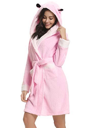Aibrou Calientes Albornoz Mujer Invierno Batas Mujer Kimono Baño,Suave Comodo y Agradable