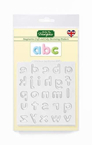 Mini-koepel onderste koffer alfabet letters siliconen mal voor taartdecoratie, ambachten, cupcakes, suikerwerk, snoepjes, kaarten en klei, voedselveilig goedgekeurd, gemaakt in het Verenigd Koninkrijk