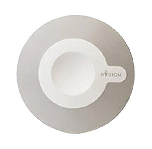 Bosign Miroir cosmétique magnétique en Plastique Blanc/Gris