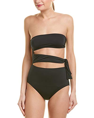 Proenza Schouler Womens Bandeau One-Piece, S, Black