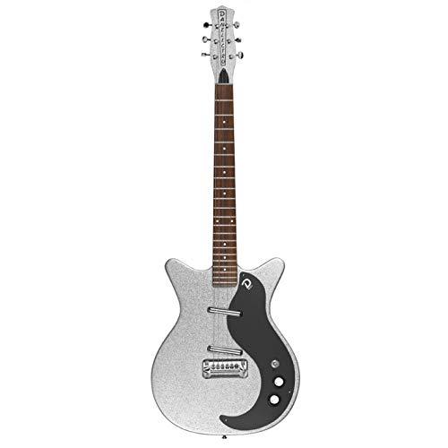 Danelectro 59M NOS+ Metalflake E-Gitarre (Silver Metalflake)