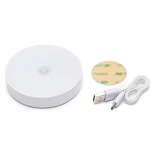 Icoco Led-Sensor voor het menselijk lichaam nachtlampje usb-opladen bedlampje baby voeding nachtgang kledingkast lamp-geel-Russische vering