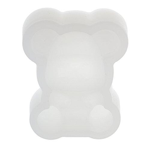 SDENSHI Molde de Silicona de Bricolaje Panda Molde de Resina Pastel de Chocolate Fabricación de Joyas Artesanales