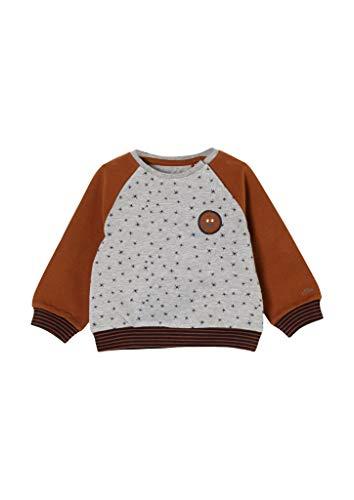 s.Oliver Unisex - Baby Sweatshirt mit Allover-Print grey melange 50/56