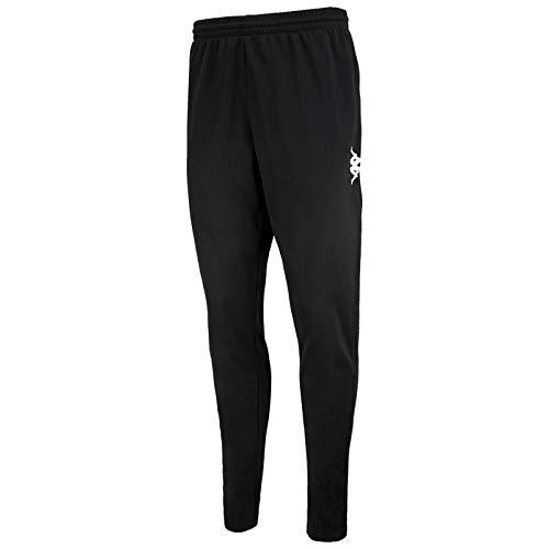 Kappa Ponte Pants Pantalon Long, Enfants XS Noir/Blanc